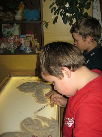 Рисуем песком